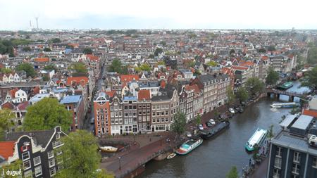 panorama amsterdam depuis la westerkreik