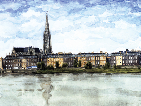 aquarelle st michel bordeaux