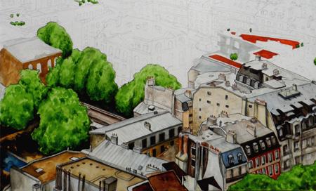 peinture toits de paris