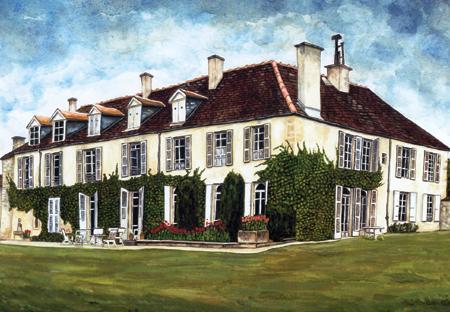 aquarelle maison