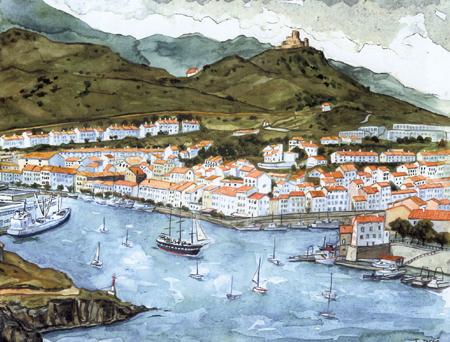 peinture port vendres