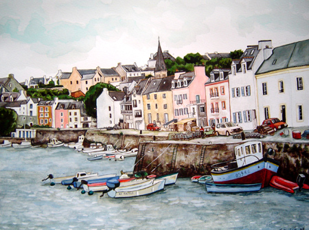 aquarelle sauzon