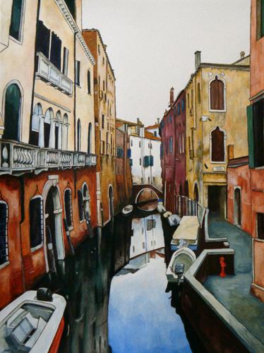 peinture ruelle venise