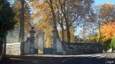 automne entree du parc bargoin clermont ferrand