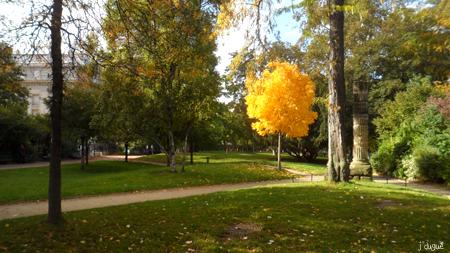 automne paris parc monceau