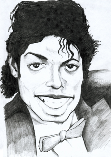 caricature michael jackson by julien dugué