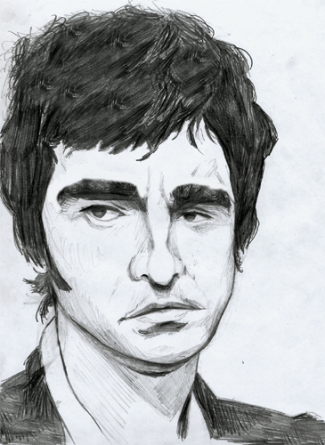 caricature noel gallagher by julien dugué