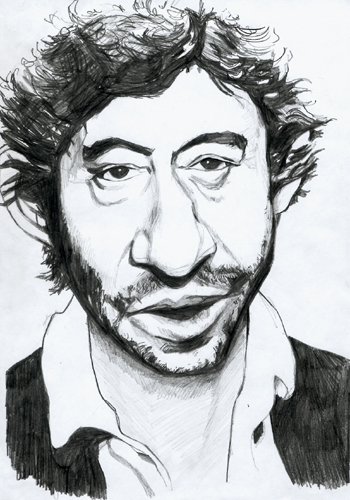 caricature serge gainsbourg