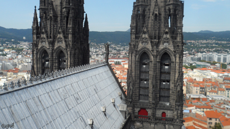 vue cathedrale clermont ferrand