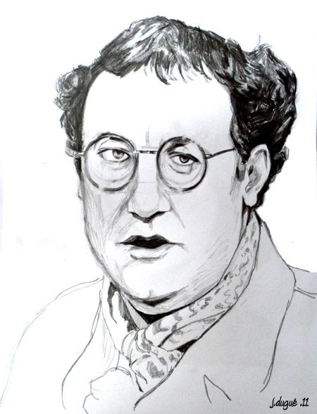 portrait coluche