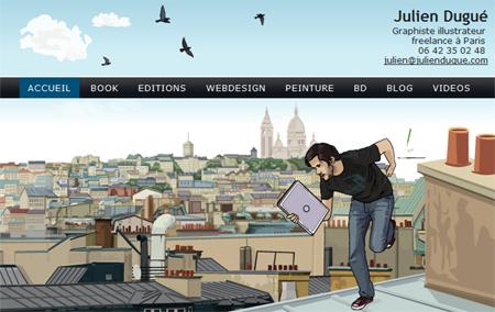 homepage graphiste julien dugué