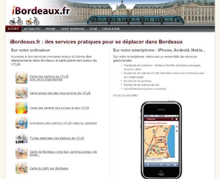 ibordeaux - tramway, vcub, taxi, bordeaux