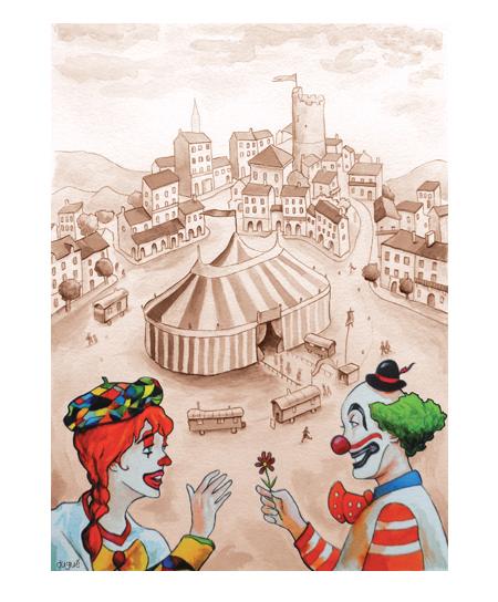 dessin conte cirque