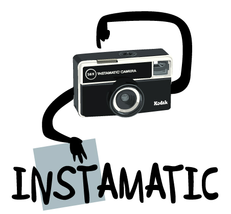 instamatic kodac illustration