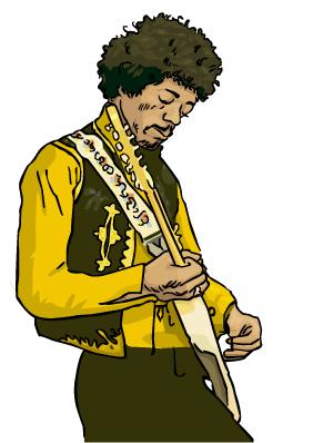 Jimi Hendrix dessin julien dugue