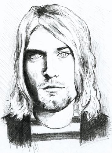 portrait de kurt cobain