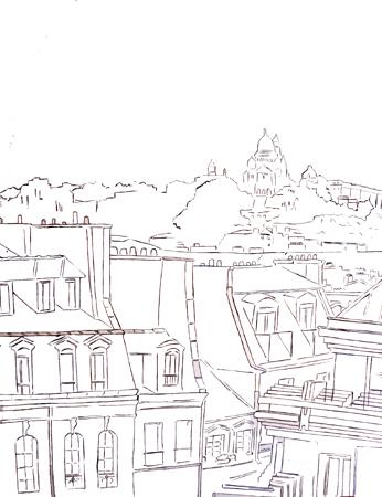dessin montmartre crayonne