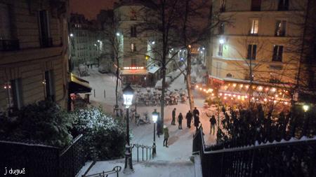 neige rue utrillo janvier 2013