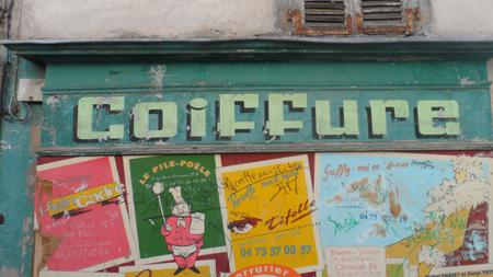 publicité mur peint coiffure