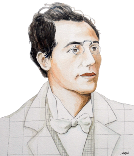 portrait gustav mahler dessin
