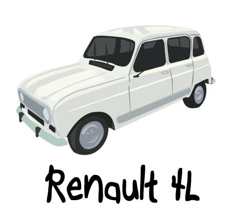 renault 4 retro année 80