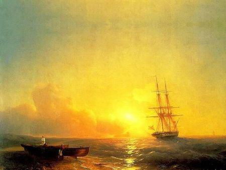 vaisseau sur l'ocean turner