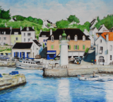 aquarelle port de sauzon