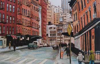 rue new york dessin