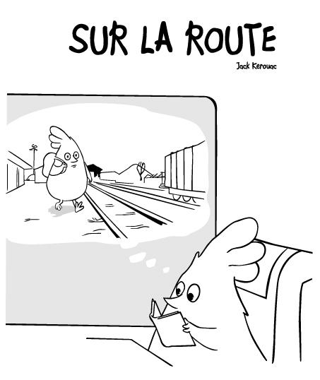 lecture d'urbain sur la route